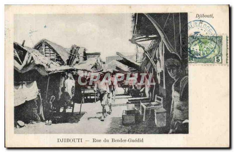 CPA Dimensions of Somalis Djibouti Rue of Bender Guedid
