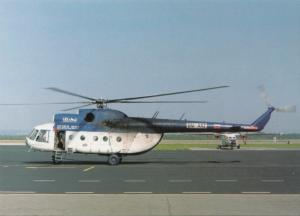 TECH-MONT HELICOPTER, Mil MI-8, unused Postcard