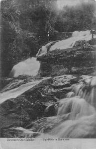 German East Africa D.O.A. Tanzania Sigi-Bach in Usambara, Waterfall, Postcard