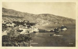 portugal, MADEIRA FUNCHAL, Panorama from Reid's Hotel (1930s) RPPC