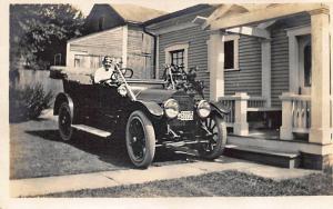 1914 License Plate  #52235  Automobile Real Photo Postcard