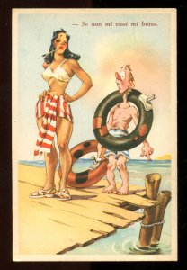 dc1818 - ITALY Pin-Up Girl Bathing Beauty 1920s Artist Postcard