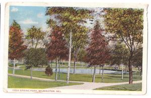 Cold Spring Park Wilmington Delaware DE 1917
