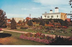 Summer View of Flower Garden, Park Near Fire Hall, Red Deer, Alberta, Canada,...