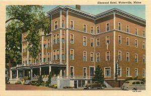 Waterville, Maine, ME, Elmwood Hotel, 1944 Linen Vintage Postcard c6018