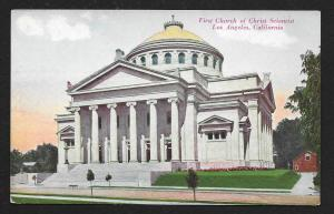 Church of Christ Scientist Los Angeles CA Unused c1910s