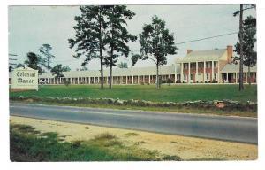 Weldon NC Colonial Manor Motel North Carolina Vtg Postcard