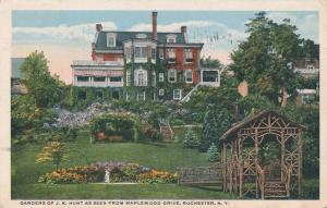 Home and Gardens of J K Hunt from Maplewood Drive Rochester New York pm 1915 DB