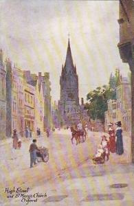 High Street and St. Mary's Church, Oxford, Oxfordshire, England, United Kingd...