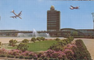 Arrival Lounge at JFK Kennedy Airport 1960s Postcard