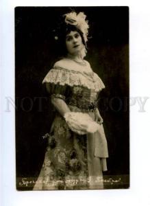 174517 BRONSKAYA Russian OPERA star singer Vintage photo PC