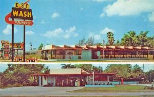 St Petersburg FL Pronto Car Wash Duo View Postcard