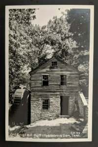 Mint Vintage Norris Dam Tennessee Old Grist Mill Real Picture Postcard