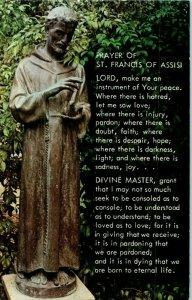 San Francis de Assisi Bronce Estatua En Mission Santa Barbara California Postal
