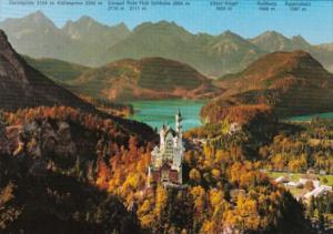Castles Koenigschloesser Neuschwanstein und Hohenschwangau