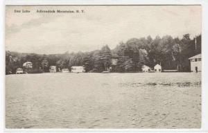 Star Lake Cottages Adirondack Mountains New York Albertype postcard