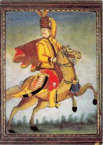 BG5843 pandur zu pferd heimatmuseum oberammergau alois gege painting germany