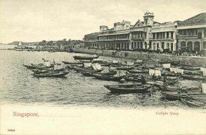 Singapore, Collyer Quay (1899) Postcard