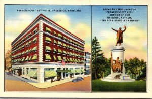 Maryland Frederick Francis Scott Key Hotel Grave aand Monument