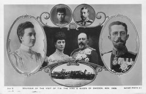 Royalty UK Windsor Visit, Sweden King Queen, Edward VII, Alexandra Denmark 1908