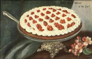 Food - Beautiful Berry & Cream Pie c1910 Postcard
