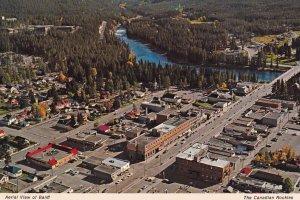 BANFF, Alberta, 1950-1960s; Aerial View Of Banff