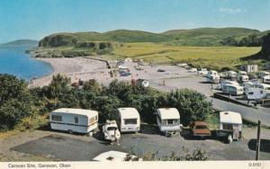 Ganavan Welsh Camping Oban Caravan Site 1970s Postcard