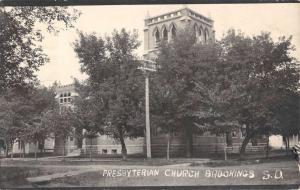 Brookings South Dakota Presbyterian Church Real Photo Antique Postcard K55370