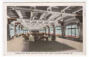 Ladies Rest Room Sun Parlor Elms Hotel Excelsior Springs Missouri 1916 postcard