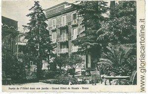 02907 CARTOLINA d'Epoca - ROMA Citta': GRAND HOTEL DE RUSSIE