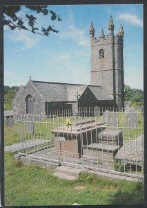 Devon Postcard - Village Church & Graveyard, Sheepstor     RR4436