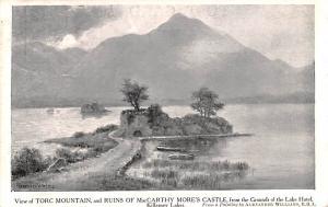 Killarney Ireland Torc Mountain and Ruins of MacCarthy More's Castle Killarne...