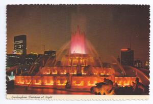 Buckingham Fountain at Night Chicago IL 1972