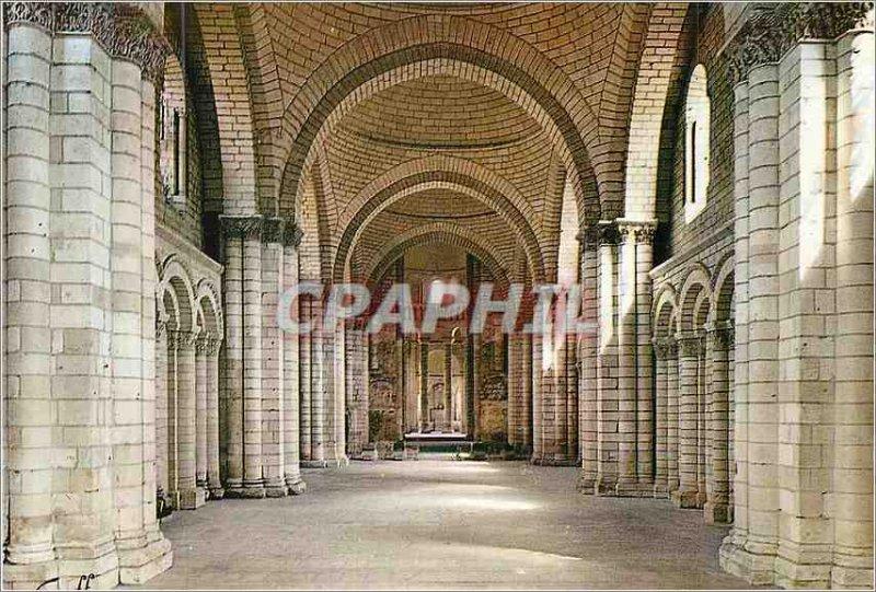 Modern Postcard Fontevrault Abbey (Maine et Loire) nave of the abbey church (...