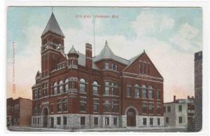 City Hall Oshkosh Wisconsin 1910 postcard