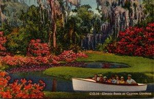Florida Cypress Gardens Electric Boats  Curteich