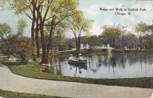 Bridge and Walk in Garfield Park, Chicago, Illinois, PU-1910