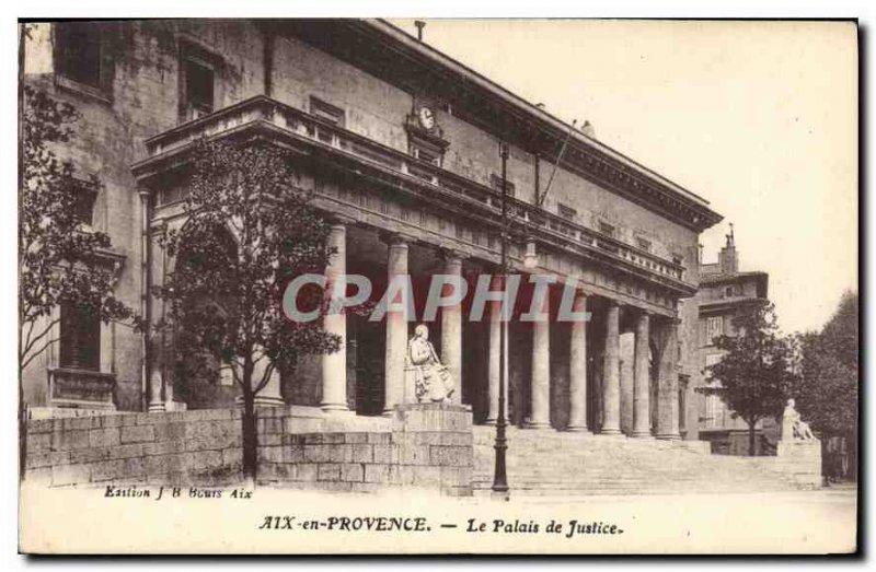 Old Postcard Aix en Provence Courthouse