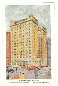 Southern Hotel, Light ansd Redwood Streets, Baltimore, Maryland, 50-60s