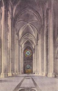 New York City The Cathedral Of Saint John The Divine The Nave Looking West Ha...