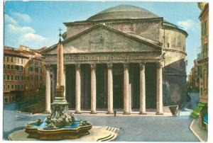 Italy, Rome, Roma, Il Pantheon, The Pantheon, 1985 used Postcard