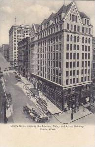 Cherry Street,showing the Lowman,Bailey and Alaska Buildings, Seattle,Washing...