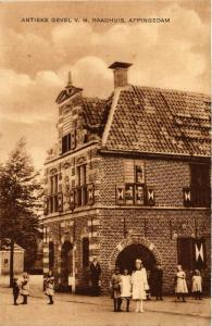 CPA APPINGEDAM Antieke Gevel v.h. Radhuis NETHERLANDS (706053)