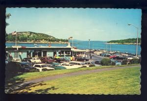 Bar Harbor, Maine/ME Postcard, Frenchman's Bay Pier, Old Cars/Volkswagen