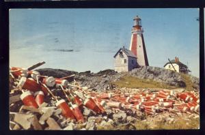 Yarmouth, Nova Scotia/NS, Canada Postcard, Yarmouth Light/Lighthouse, 1958!