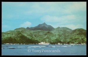 Matson Ship in Pago Pago Harbor