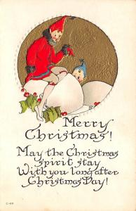 Christmas Post Card Old Vintage Antique Xmas Postcard Unused