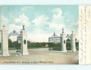 Pre-1907 ENTRANCE TO ROGER WILLIAMS PARK Providence Rhode Island RI t3531