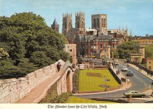 uk34798 minster from the city walls york  uk
