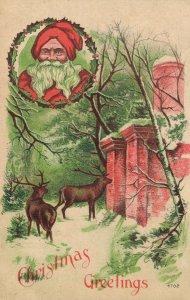 Christmas Greetings - Santa Claus - Litho 04.08